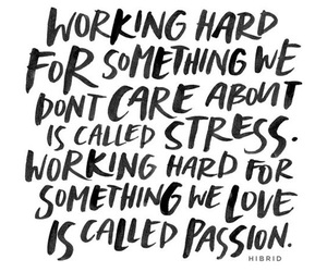 passion and stress image