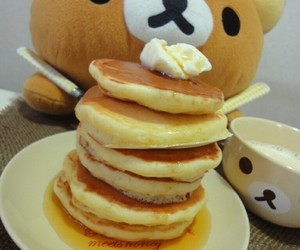 pancakes, kawaii, and rilakkuma image
