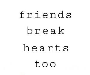 friends, hearts, and sad image