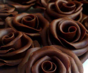 chocolate, roses, and sweet image