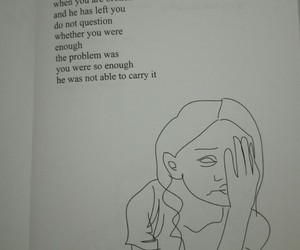 alone, enough, and poetry image