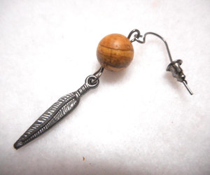 etsy, feather earring, and gifts for man image
