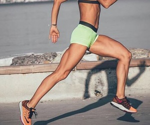 beautiful, muscles, and jogging image