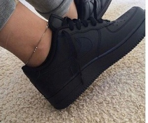 ankle, airforceone, and black image