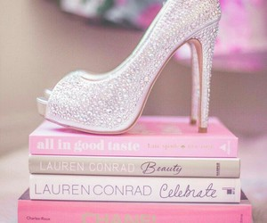 pink, book, and girly image