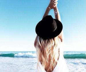 summer, beach, and hair image