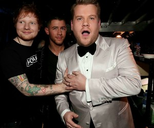 grammys, nick jonas, and james corden image