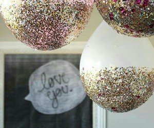 glitter, balloons, and party image