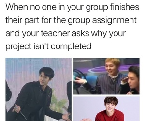 Chen, chanyeol, and exo meme image