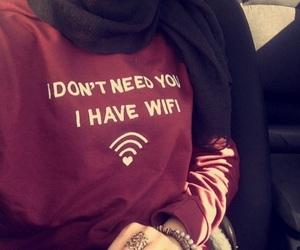 wifi, fashion, and hijab image