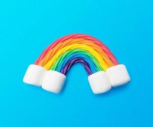 minimalist and rainbow image
