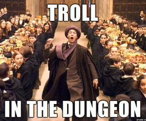 harry potter, troll, and quirell image