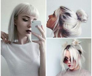 hair, platinum, and white image