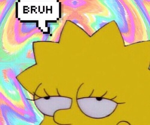 wallpaper, background, and lisa simpson image