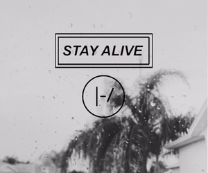 black and white, stay alive, and twenty one pilots image