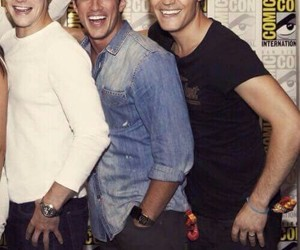 paul wesley, michael trevino, and Zach Roerig image