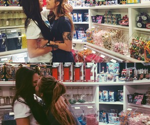 couple, lesbian, and love image