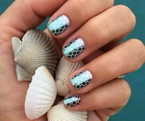 nails and mermaid image