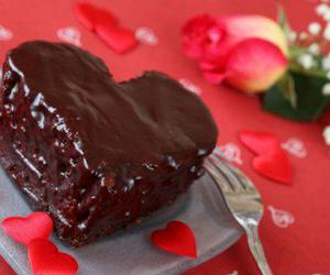 chocolate, heart, and cake image