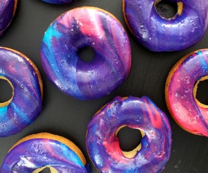 donuts, galaxy, and dessert image