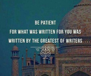 islam, allah, and patience image