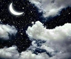 moon, night, and stars image