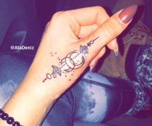 tattoo, nails, and moon image