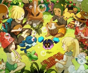 lillie, pokemon, and moon image