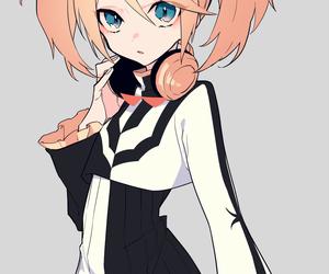 anime girl, art, and headphones image