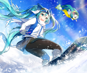 anime, anime girl, and miku image