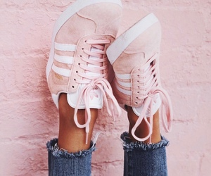 adidas, pink, and cute image
