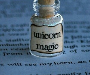 bottle, magic, and unicorn image