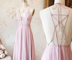 evening dress, long prom dress, and pink prom dress image