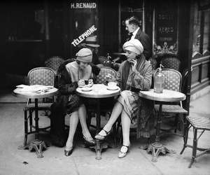 vintage, paris, and black and white image