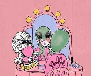 tumblr, alien, and pink image