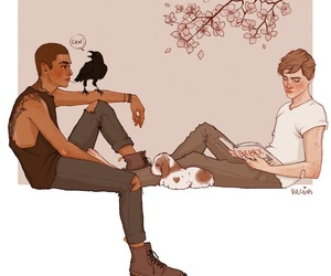adam, ronan, and raven boys image
