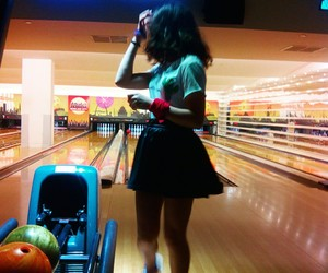 bowling, fashion, and girl image