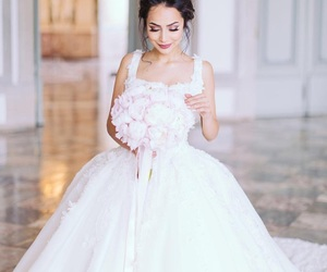 wedding, dress, and white dress image