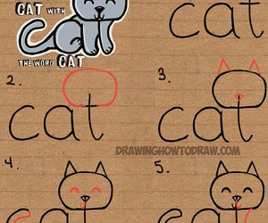 cat and drawing image