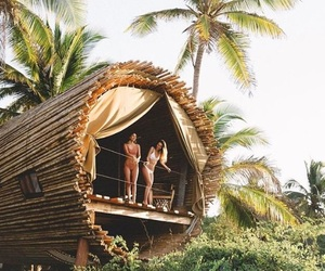 cool, summer, and treehouse image