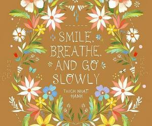 quotes, breathe, and smile image