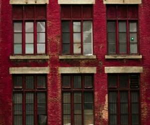 brick building, dark red, and maroon image