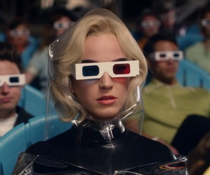 3d, 3d glasses, and 80's image