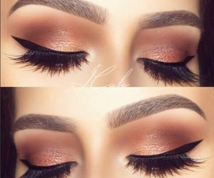 eyebrows, glam, and eyeliner image