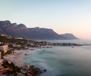 beach, cape town, and city image