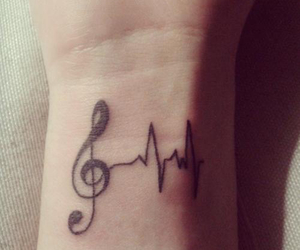 music, tattoo, and life image