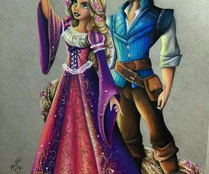 rapunzel, tangled, and disney image
