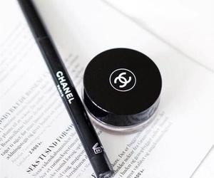 black, chanel, and makeup image