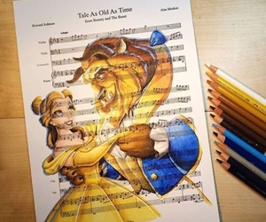 art, disney, and music image