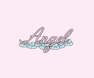 angel, header, and pink image